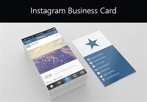 instagram card templates instagram business cards why every business should an