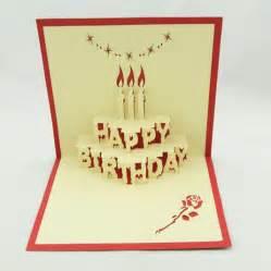 aliexpress buy birthday cake pop up card 3d kirigami birthday card handmade greeting