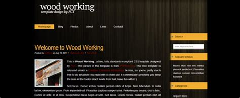 woodworking website template 25 free html css web templates