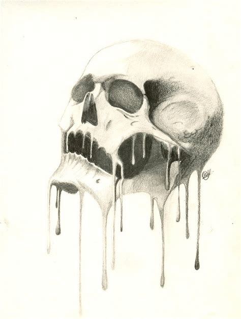 melting skull tattoo melting skull skulls more artsy ideas