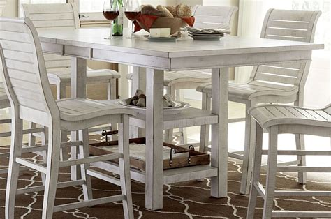 white counter height dining table willow distressed white rectangular counter height dining