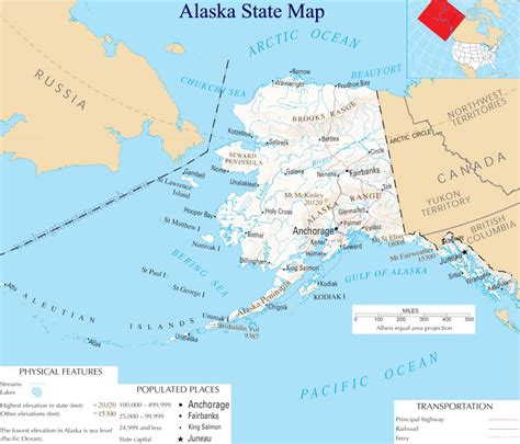 usa map with alaska map of alaska alaska maps mapsof net
