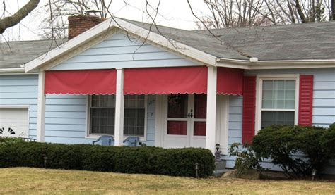 red awnings red porch valance awnings jpg jamestown awning and party