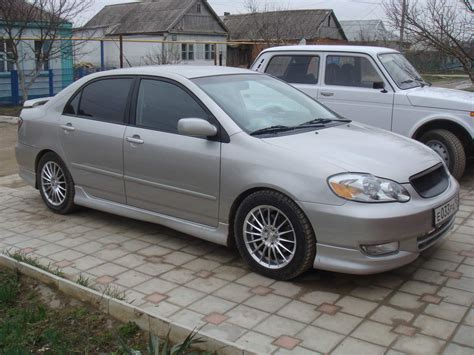 toyota corolla 1 8 2002 auto images and specification