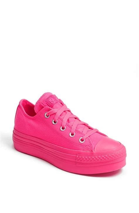converse chuck all platform sneaker in pink knockout pink lyst