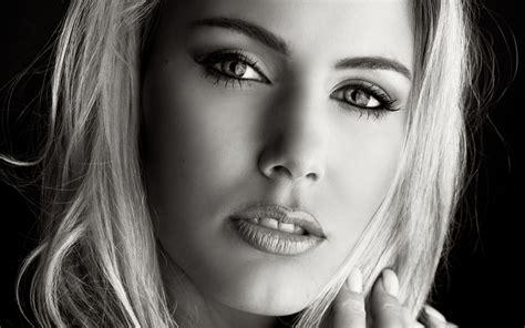 Imagenes Blanco Y Negro Chicas | fondo de pantalla blanco y negro chica maquillaje hd