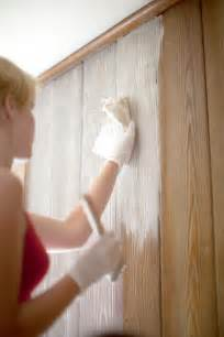 whitewashed wood paneling how to whitewash wood paneling in a few simple steps