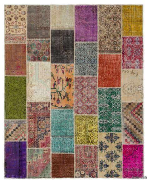 Patchwork Kilim Rug - vintage patchwork rugs kilim rugs overdyed vintage rugs