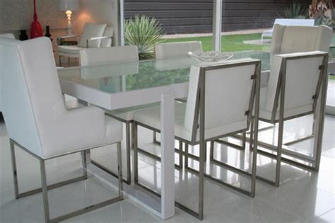 frosted glass dining room table www roomservicestore com white metal and frosted glass