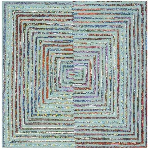 4 square rug safavieh nantucket teal contemporary rug square 4 nan603a 4sq