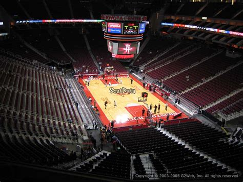 Section 125 Toyota Center by Houston Rockets Toyota Center Section 403