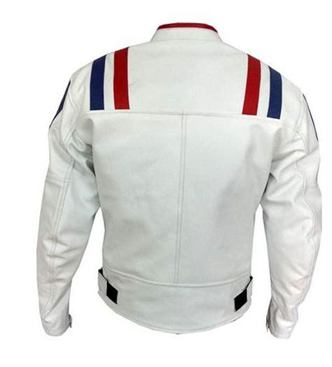 white motorbike jacket white motorcycle leather jacket the flash board