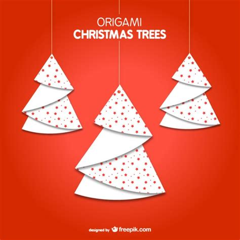 origami christmas trees origami trees vector free