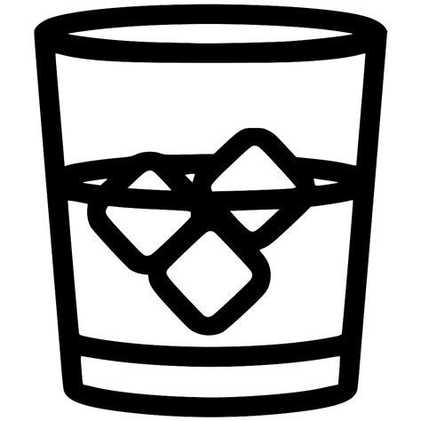 Whiskey Glass Svg Png Icon Free 483015