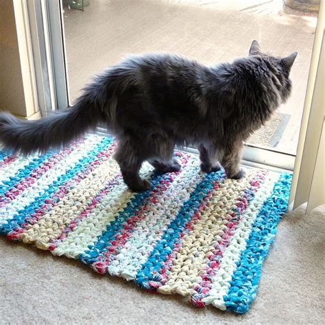 how to knit a rag rug 432 best images about crocheted rugs pillows on free pattern crochet rug patterns