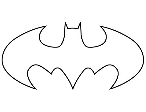 printable batman logo coloring pages batman sign outline clipart best