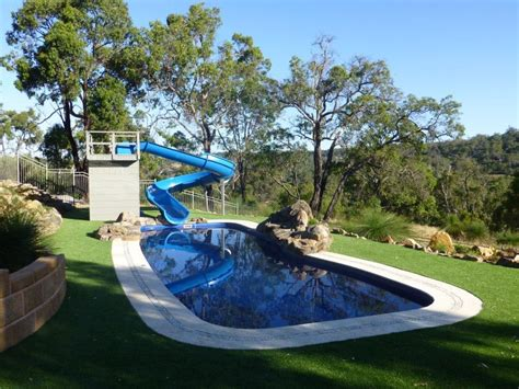 fun of home pool slides backyard design ideas