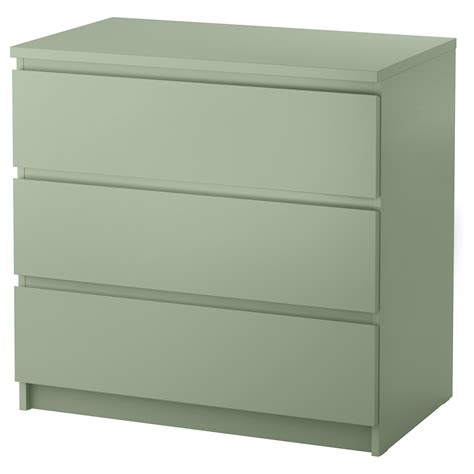 cassettiere ikea malm chest of 3 drawers light green 80x78 cm ikea