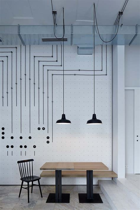 Pendant Light Ideas by Bistro Cafe With Minimalist Amp Artistic Design Concept In