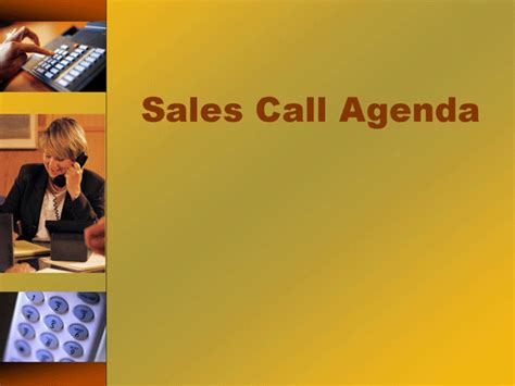 sales call agenda template microsoft powerpoint template