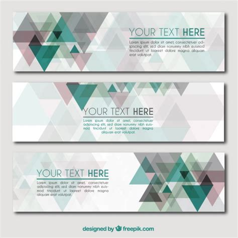 Premium Abstrac abstrac banners pack vector premium