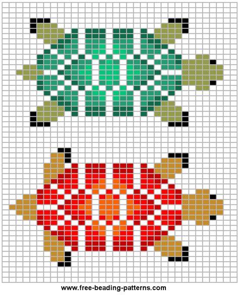 loom beadwork design turtle variations