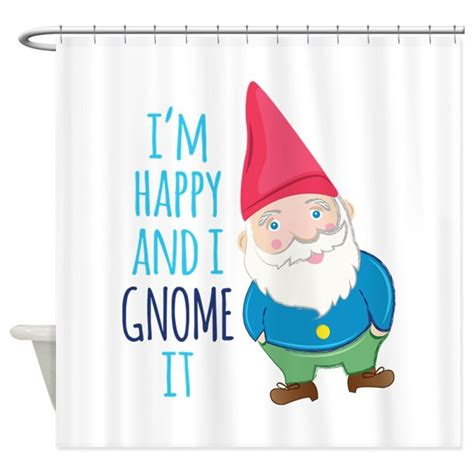gnome shower curtain happy gnome shower curtain by windmill52