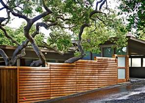 Backyard Privacy Without A Fence Horizontal Fence Driveway Contemporary Exterior San