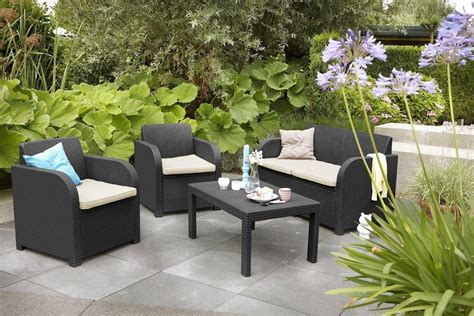 Carolina Patio Furniture Outlet by Allibert By Keter Carolina Outdoor 4 Seater Rattan Lounge
