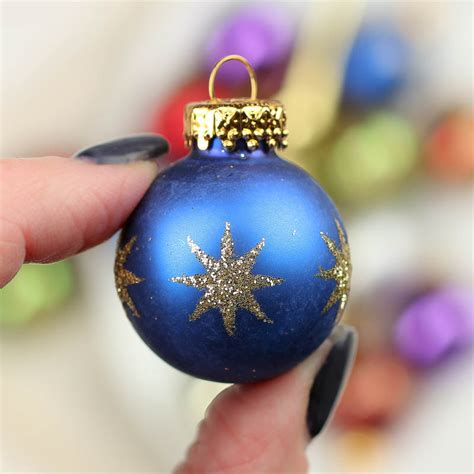 assorted miniature glass christmas ornaments on sale