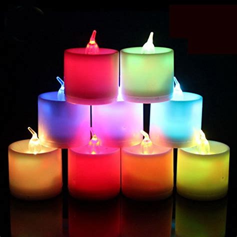 candle light l shades modern puzzles l shade with 1 pcs colorful led candle