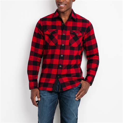 s algonquin flannel shirt roots shirts for