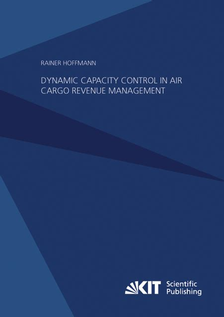 Cargo Revenue Management Specialist Rainer Hoffmann Dynamic Capacity In Air Cargo