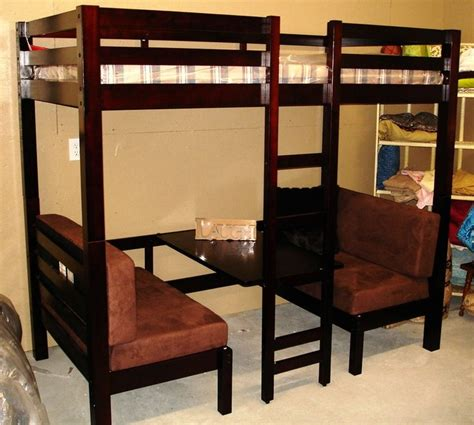 king size loft bed loft bed with table booth beneath diy ideas pinterest