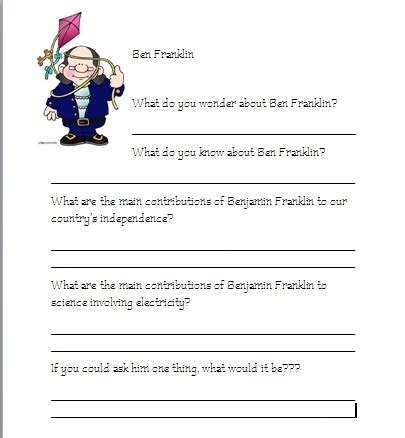 benjamin franklin biography 3rd grade benjamin franklin worksheets geersc