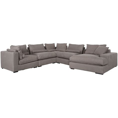 gray fabric sectional with chaise city furniture fiore gray fabric right chaise sectional