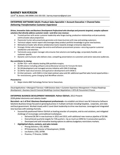 sales resume samples executive sample project manager example