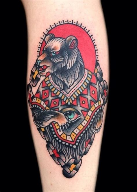 amazing black bear tattoo on sleeve tattooshunt com
