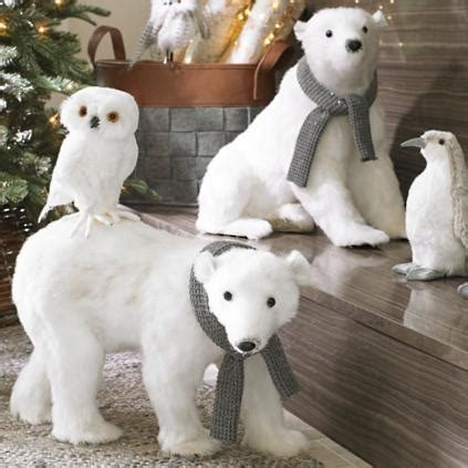 sitting polar bear  scarf grandin road