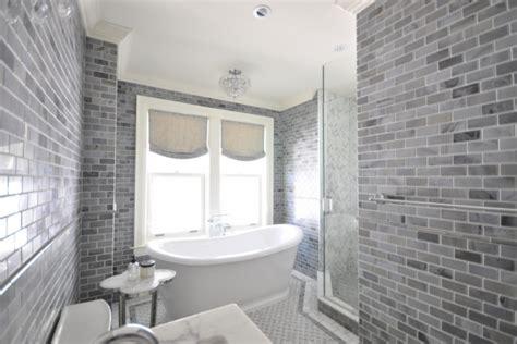 Grey Subway Tile Bathroom Gray Subway Tile Transitional Bathroom Meredith Heron Design
