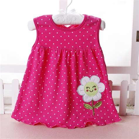 Baby Dress Cotton 1 baby dresses 0 18 months infant cotton clothing dress summer clothes printed embroidery