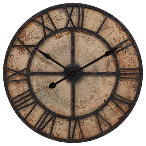 bryan map wall clock transitional wall clocks by