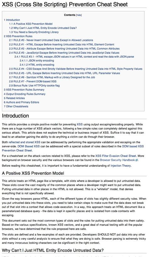 xss tutorial exle xss cross site scripting prevention cheat sheet at open