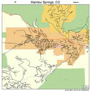 maps colorado springs co manitou springs colorado map 0848445