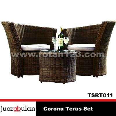 Kursi Rotan Per Set harga jual corona teras set kursi rotan sintetis model