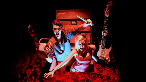 Last I Saw Evil Dead The Musical A Revi by Evil Dead Blood Decapitation Chainsaw Demons And