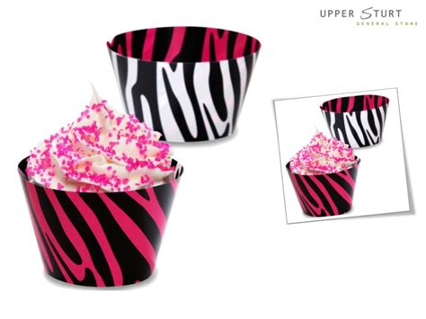 printable zebra cupcake wrappers zebra print reversible cupcake wrappers 12 pack upper