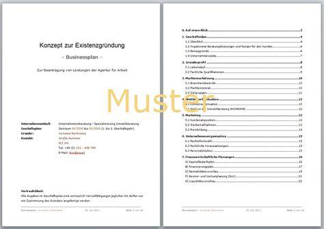 Vorlagen Und Muster Zum Erstellen Eines Businessplans Caf 233 Businessplan Vorlage