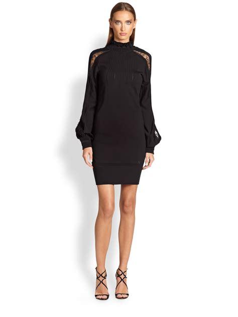 Balloon Sleeve Dress lyst roberto cavalli knit balloon sleeve dress in black