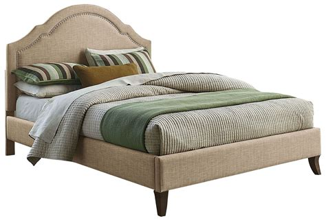 full upholstered bed simplicity linen cathedral full upholstered bed 81696